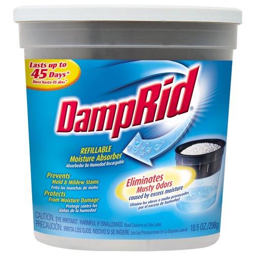 075919000069 - DampRid FG01K Refillable Moisture Absorber, Fragrance Free, 10.5-Ounce carousel main 0