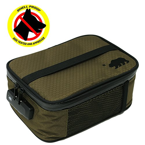 (Cali Crusher 100% Smell Proof Soft Case w/Combo Lock (9in x 7in x 3.5in) (Olive Green))