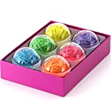 Office+Style 6 Colored Rubber Band Balls with Close-Lid Storage Cases, 270 Pieces