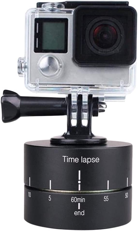 Ocamo for Gopro Photography Accessories PTZ 360 Auto Rotate Panorama Shooting PTZ Stand 60//120 Minute Delayer 120 Minute delay