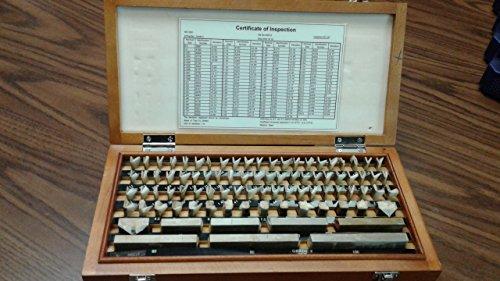 87 PCS/SET METRIC GAGE BLOCK SET, GRADE 2 W. CERTS #702F-755 by CME