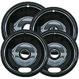 Range Kleen P10124XZ Style A Porcelain Universal Set Of 4 Containing 3 Units P101, 1 Unit P102, Black
