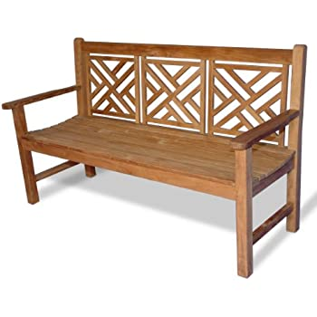 teak chippendale bench 5 ft - Teak Bench