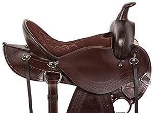 AceRugs GAITED WESTERN PLEASURE TRAIL HORSE LEATHER SADDLE TACK ENDURANCE 15 16 17 18 BRIDLE REINS BREAST COLLAR SALE