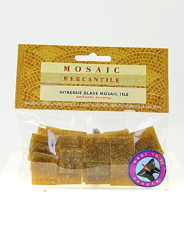 (Mosaic Mercantile Solid Color Vitreous Glass Mosaic Tile tobacco 3/4 in. pack of 24 [PACK OF 6 ])
