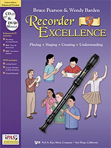 W52S - Recorder Excellence Enhanced Version Book/CD/DVD - Student Edition (Recorder Express Cd)