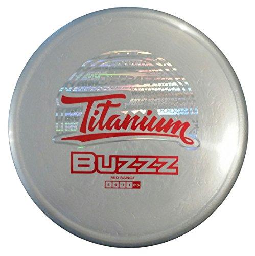 Discraft Titanium Golf Disc, Nate Doss Buzzz Mid-Range Driver, 174-178gm, Assorted colors