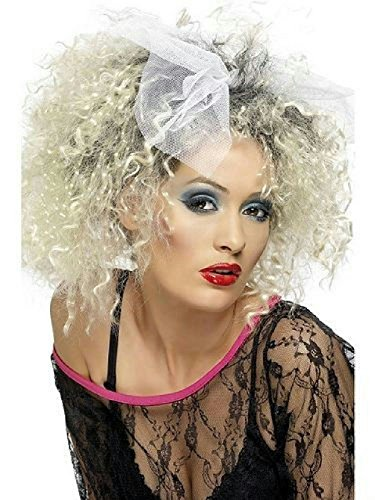 80's Wild Child Wig with Bow Madonna Inspired -