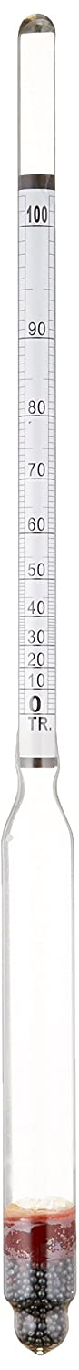 HYDROMETER - ALCOHOL, 0-200 PROOF and Tralle