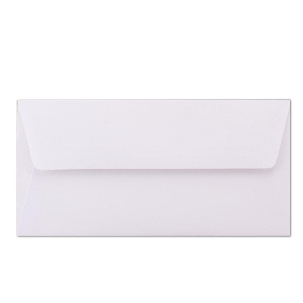 Buste bianche 22 x 11 cm DIN lungo Foderate con fodera in seta colorata Adesivo umido 25 pezzi Seidenfutter: dunkelblau 100 g//m2