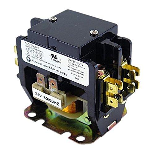 (YuCo CN-PBC302-24 DEFINITE PURPOSE CONTACTOR 30A 2P 24V 30 FLA 40 RES FITS DP30C2P-F AC & HEATING CONTACTOR AIR CONDITIONING CONTACTOR HVAC CONTACTOR)