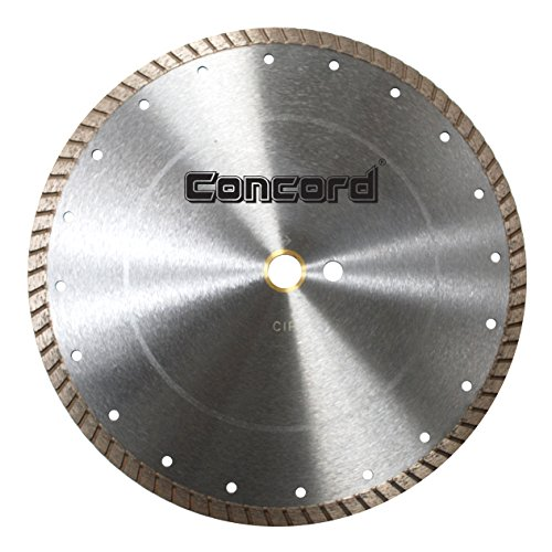 Industrial Diamond Saw Blade - Concord Blades CTW140C10CP 14 Inch Continuous Wide Turbo Teeth Diamond Blade with Cooling Holes
