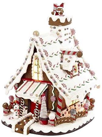 Amazoncom Kurt Adler Lighted Christmas Gingerbread House - Christmas gingerbread house