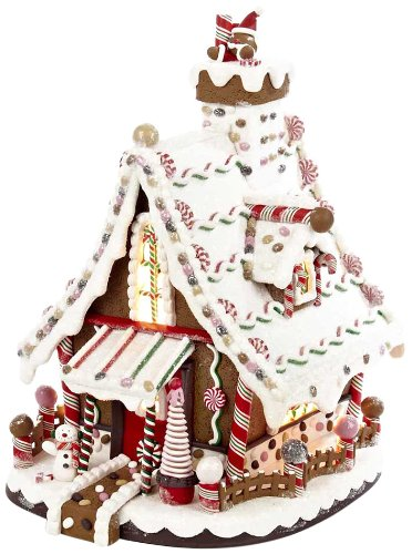 Kurt Adler Lighted Christmas Gingerbread house, 12-Inch