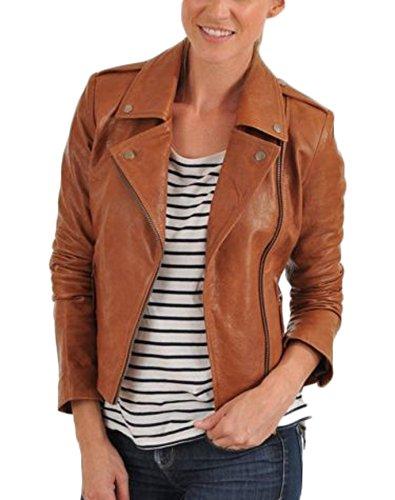 9c9e862c5305 New Women Genuine Real Leather Jacket Ladies Slim Fit Biker Coat LTN508 L