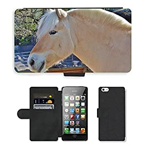 Super Stella Cell Phone Card Slot PU Leather Wallet Case // M00104886 Horse Animal Farm Wild Mammal // Apple iPhone 5 5S 5G