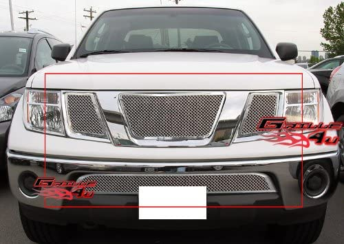 Compatible with 2008-2015 Armada Stainless Steel Mesh Grille Insert W Logo N76507T