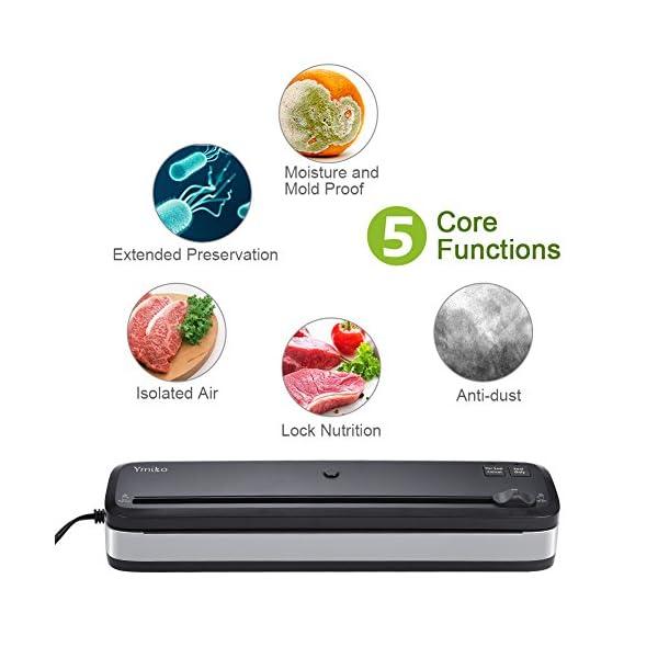 Macchina Sottovuoto per Alimenti, Ymiko Professionale Sigillatrice Sottovuoto Alimenti Portatile Macchina Sigillatrici… 2 spesavip