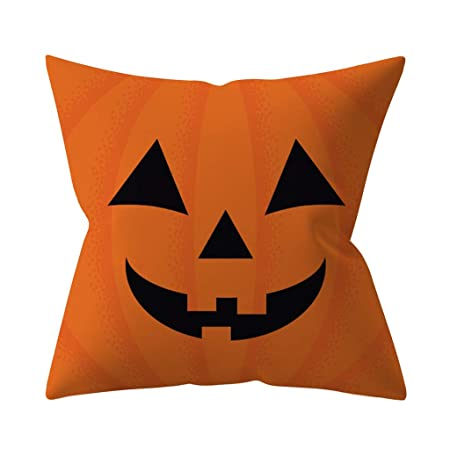 Lookhy Halloween Calabaza Decorativo Fundas de Almohada otoño ...