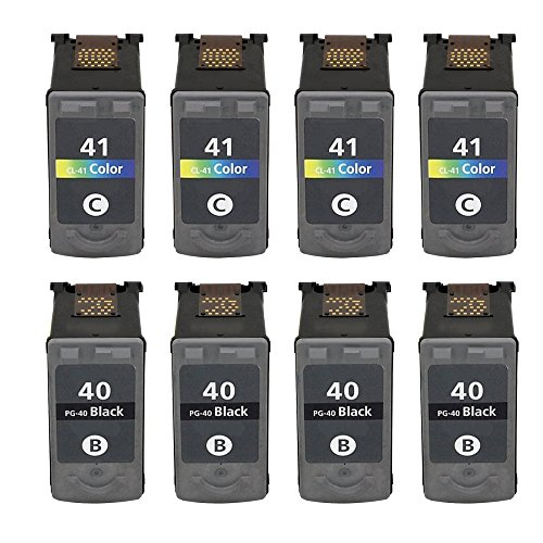ESTON 8Pack Remanufactured Replacement for PG-40 Black an...