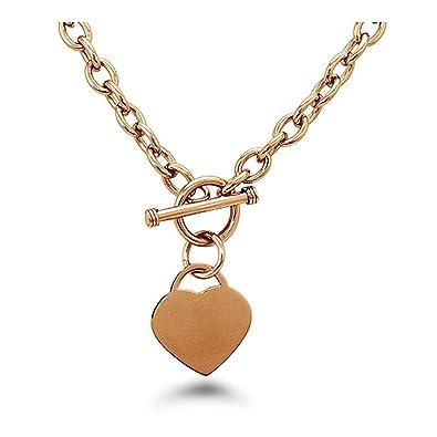 Amazon.com: Acero inoxidable, diseño de corazón Toggle ...