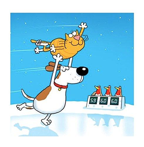 Ice Capades Cartoon Dog & Cat Christmas Cards Pack