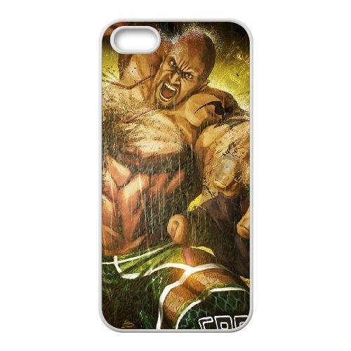 Street Fighter X Tekken Angry Body Muscles 22271 coque iPhone 5 5s cellulaire cas coque de téléphone cas blanche couverture de téléphone portable EEECBCAAN04008