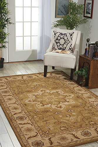 - Nourison India House (IH66) Olive Rectangle Area Rug, 8-Feet by 10-Feet 6-Inches (8' x 10'6