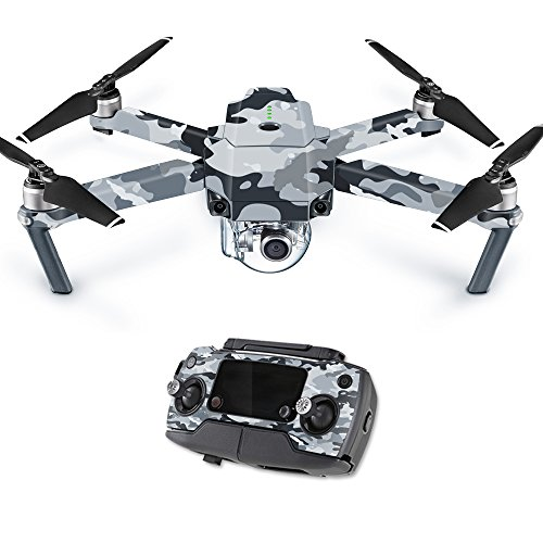 MightySkins Skin for DJI Mavic Pro Quadcopter Drone - Gray Camouflage | Protective, Durable, and Unique Vinyl Decal wrap Cover | Easy to Apply, Remove, and Change Styles | Made in The USA