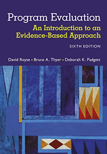 Download Program Evaluation: An Introduction to an Evidence-Based Approach Pdf