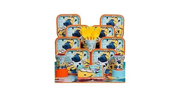 Amazon.com: Decoraciones Para Fiestas Infantiles De Cumpleaños Tematicas Minions Mi Villano Favorito: Toys & Games