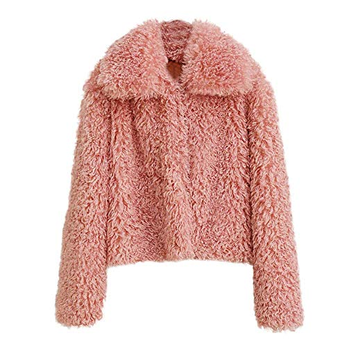 Rosado Chaqueta Mujer Cardigan Outwear Casual S Invierno Tamaño De Grueso Cálido Las Escudo Parka Moda Abrigo Sólida Señoras Prendas Zhrui color aqwvnUIxSX