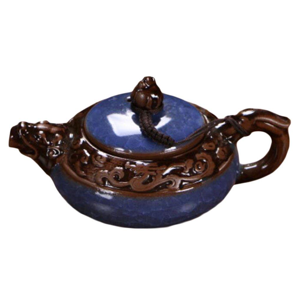 Black Temptation Creative Ice-Fissure Petit Teapot Exquis Tea Kettle-Bleu