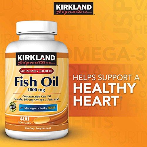 Kirkland Signature Fish oil 1000mg, 400 Count