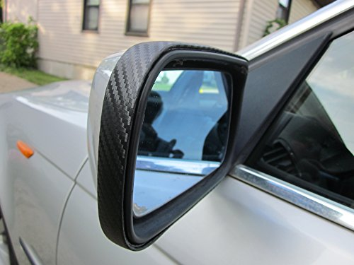 TRUE LINE Automotive Black Carbon Fiber Mirror Trim Molding Kit