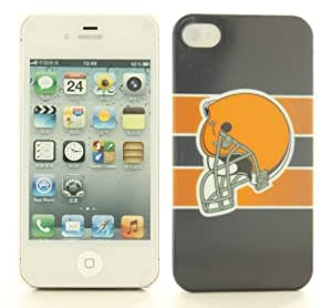 NFL Cleveland Brows Orange Hard iPhone 4 4S Cover Case I4SF2CL