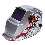 Sliver Eagle Adjustable Auto Darkening Solar Power Welding Helmet Mask Face Shield Hood CE ANSI Certified For Tig And Mig Welder