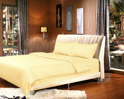 Tache 2 Piece Sunny Golden Yellow Duvet Cover Set-Twin (Comforter Light Yellow)