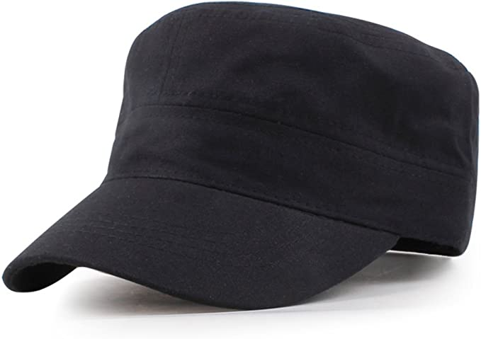 Gorras planas/Gorra militar/ sombrero de algodón para hombres y ...