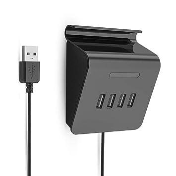 KOBWA - Adaptador de 4 Puertos USB 3.0 para Conectores de Datos, Teclado y ratón