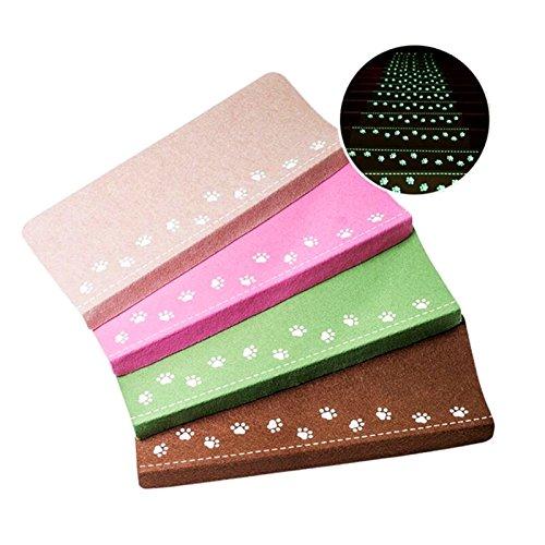 Taiyu 1pcs/set Luminous Carpet Stairs Tread Mats Self -adhesive Step Pad 4 color (21.85x8.86) | Durable, Mute, Non-slip Protection (Brown)