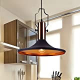 MSTAR Industrial Black Pendant Light Kitchen Bar Lighting Fixture Barn Lampshade Farmhouse Pendant Light Shade