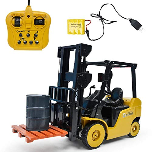 - Yunn 11 Channel 1:8 Electric Remote Control Full Functional Forklift Toy with with Configuration Oil Drum Tools