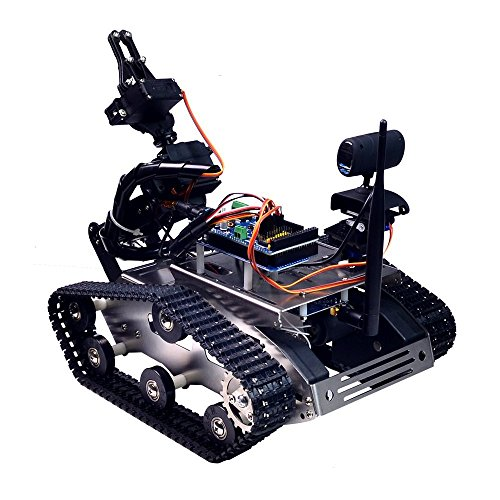 XiaoR Geek FPV Robot Car Kit with Robotic arm Hd Camera for Arduino,Utility Intelligent Tank chassis Robotics Vehicle,Smart Learning & Educational TH Robot Toys by iOS Android PC Controlled by XiaoR Geek (Image #1)