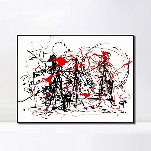 INVIN ART Framed Canvas Giclee Print Art Abstract Series 6