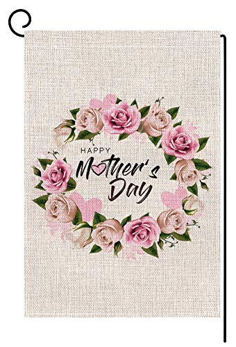 Happy Mothers Day Floral Small Garden Flag Vertical