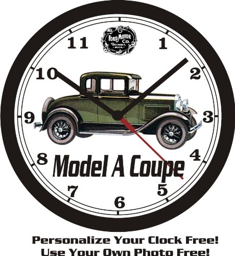 1931 FORD MODEL A COUPE WALL CLOCK-FREE USA SHIP!