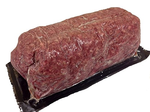 Meat Bison (Ground Bison - 100% Ground 80% Lean: 100% All-Natural, Grass-Fed North American Buffalo Meat with no Growth Hormones or Antibiotics - USDA Tested - 5 Lbs. Chub)