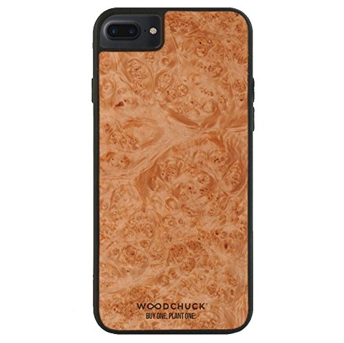 WOODCHUCK Redwood Burl Wood iPhone Plus Case (8/7/6s/6) - Premium Handmade Cover