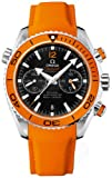 Omega Planet Ocean Chronograph Orange Rubber Strap Mens Watch 23232465101001